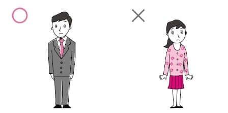 謝罪にうかがうときの服装説明画像