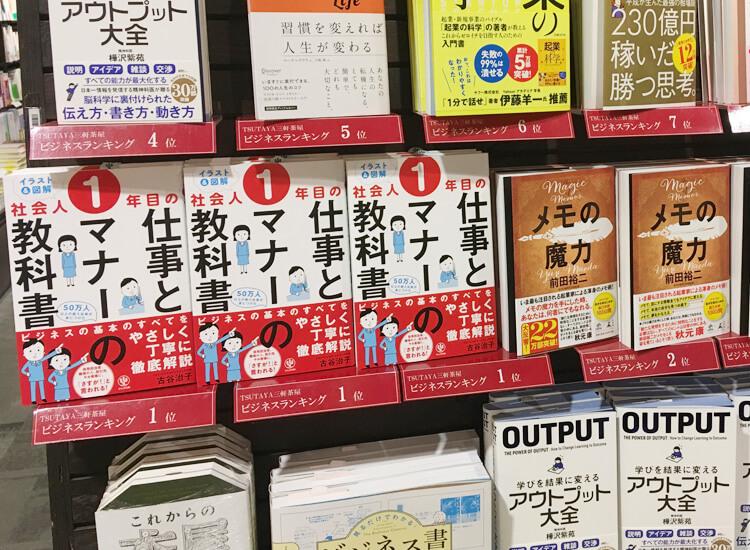 TSUTAYA三軒茶屋店 ランキング更新後